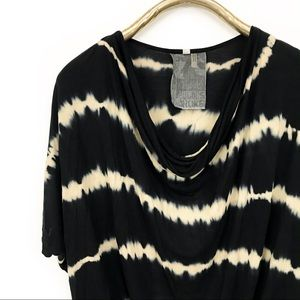 Young fabulous and broke stripe cowl neck top
